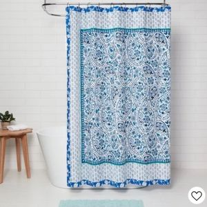 Bandana Print Shower Curtain Blue - Opalhouse